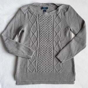 2/$25 Karen Scott Gray Silver Chunky Knit XS